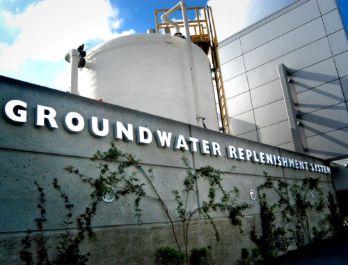 Photo of the Groundwater Replenishment System building