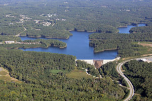 Aerial photo of the HLC Reservoir