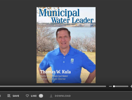 Screenshot of flipbook PDF reader for Municipal Water Leader July/August 2018. Volume 4 Issue 7.
