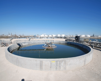 Photo of industrial wastewater treatment facility